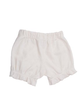 Baby Girls White Diamond Pattern Organic Cotton Bloomers 0-12M