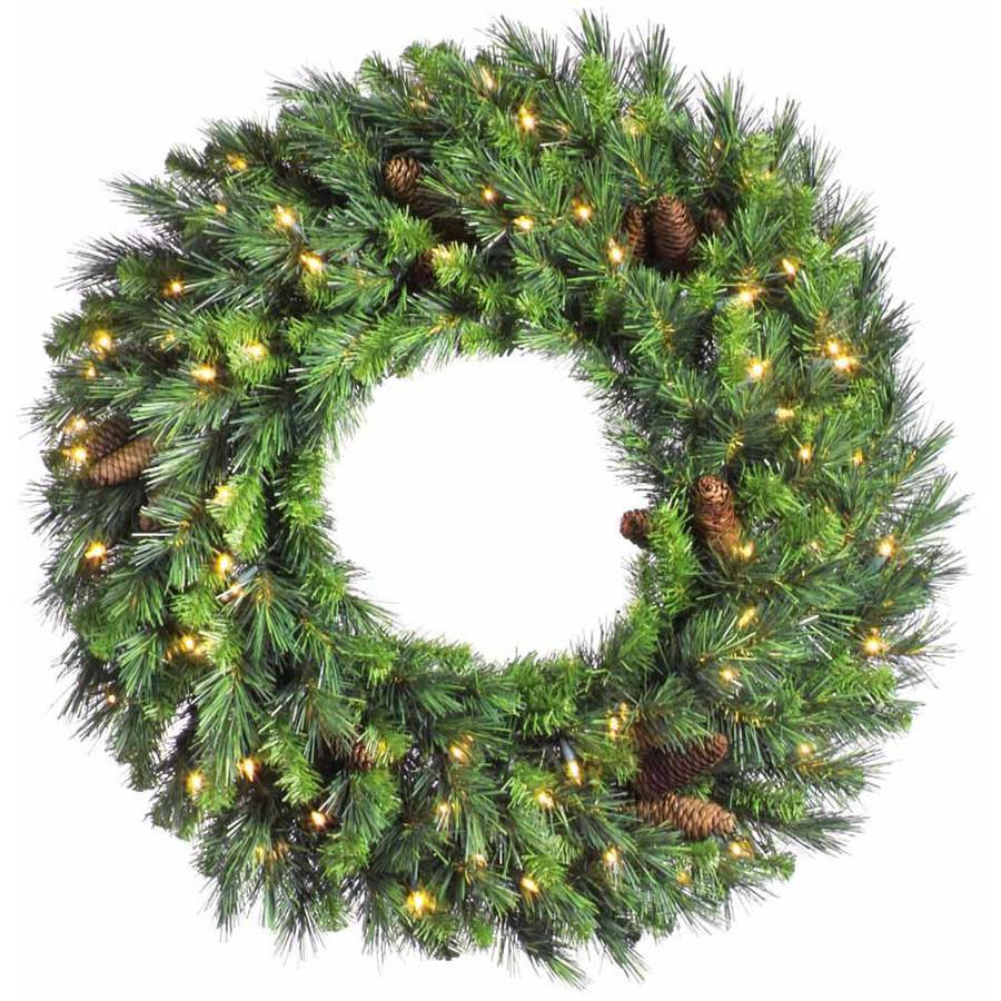 "Vickerman 24"" Cheyenne Pine Wreath Dura-Lit 50CL"