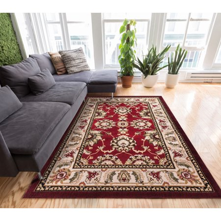 Well Woven Herati Floral Traditional Oriental Sarouk Medallion Modern Floral Area Rug