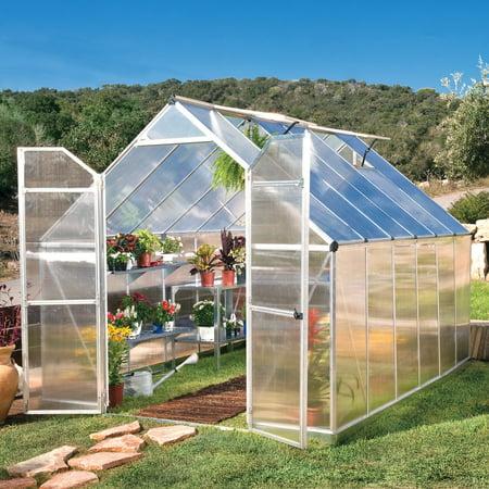 Palram Essence Silver Hobby Greenhouse - 8 x 12 ft