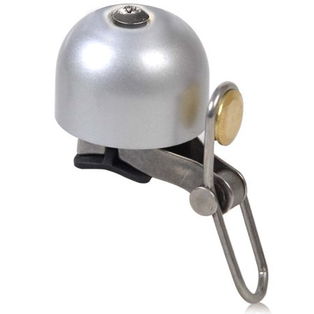 Brushed Steel Bell (Bicycle Bell Stainless steel gold brushed copper black silver light loud bicycle bell )