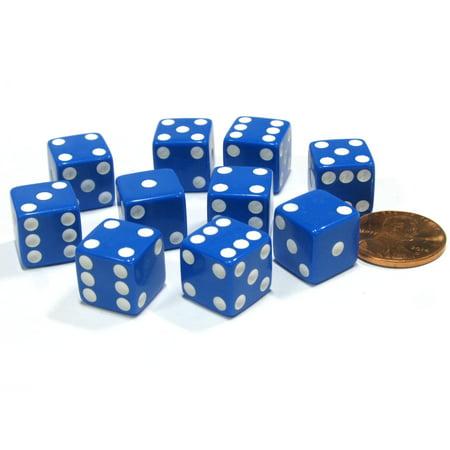 - Koplow Games Set of 10 Six Sided D6 12mm Dice Die Squared RPG D&D Bunco Board Game Blue #01817