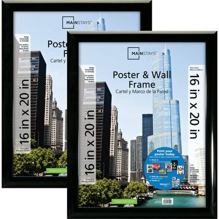 Mainstays 16x20 Trendsetter Poster & Picture Frame, Black, Setof 2 (Photo Black T5801)