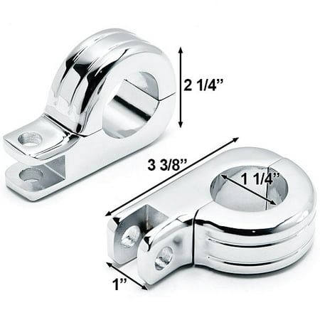 "Chrome 1-1/4"" Engine Guard Tube Bar Footpeg Clamps For Harley Davidson Roadster XLS 1984-1985 - image 3 de 5"