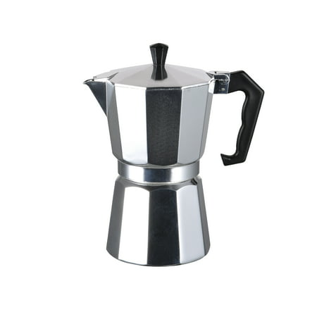 Kitchen Sense Polished Aluminum Coffee Maker 9 Cup