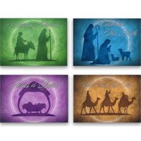 Card-Boxed-Celebrate His Birth Assorted Christmas (4 Designs) (KJV) (Box Of 12)