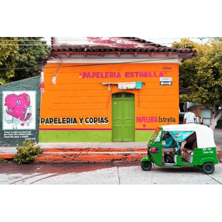"¡Viva Mexico! Collection - Orange & Lime Estrella"""" Print Wall Art By Philippe Hugonnard"