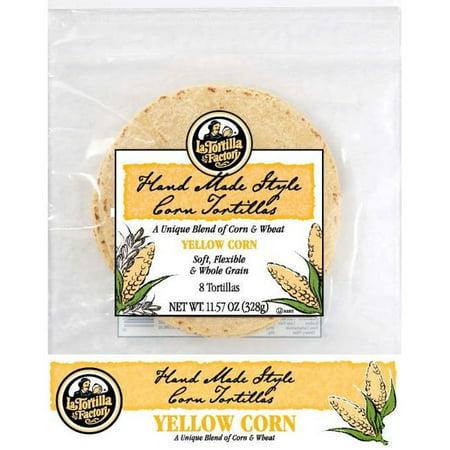 La Tortilla Factory Yellow Corn & Wheat Tortillas, 8 ct