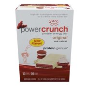 Power Crunch Protein Energy Bar, Red Velvet, 13g Protein, 5 Ct