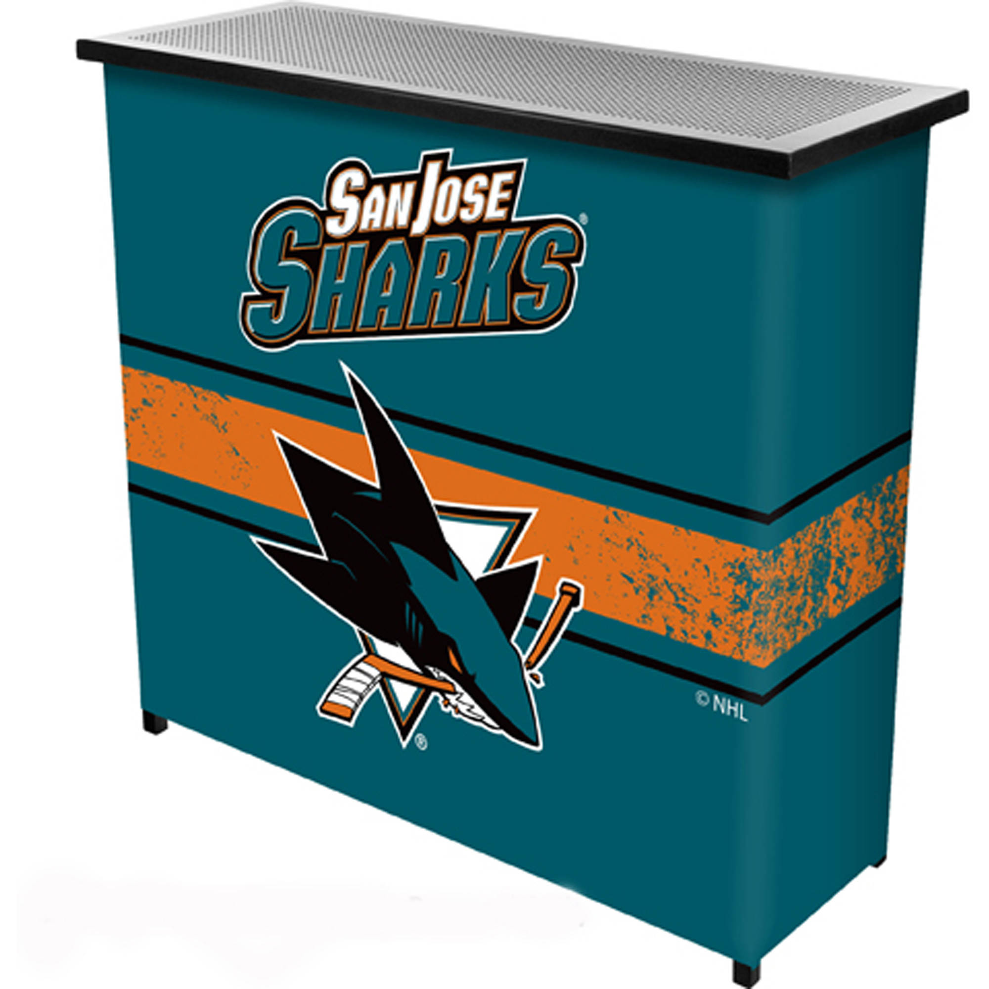 NHL Portable Bar with Carrying Case, San Jose Sharks