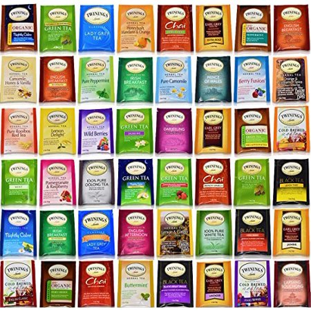 Twinings Tea Bags Sampler Assortment Variety Pack -Gift Box - 48
