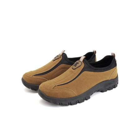 Meigar Men's Suede Outdoor Sneakers Casual Breathable Slip on Walking (Slip Suede Sneakers)