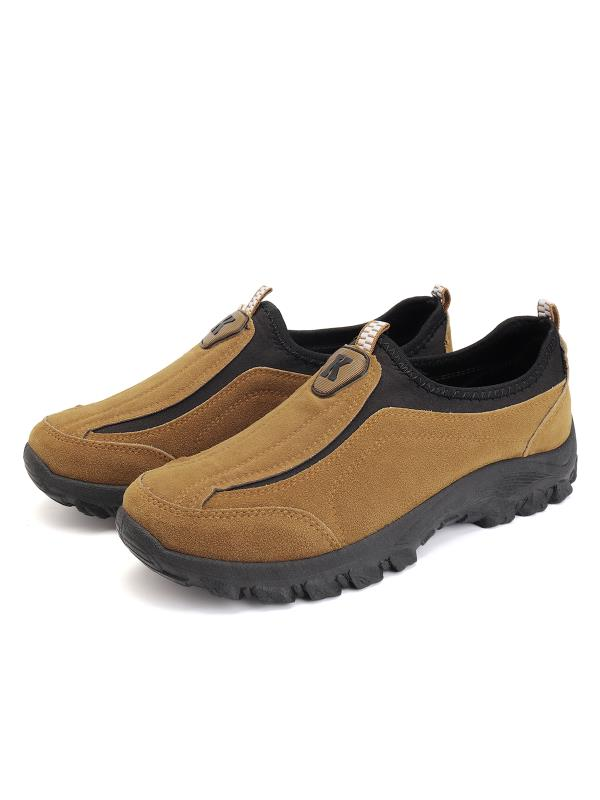 Meigar Men's Suede Outdoor Sneakers Casual Breathable Slip on Walking Shoes