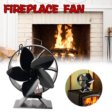 LeKing Fireplace Fan Intelligent Energy Saving Heat Powered Stove Fan No Electricity Consumption - image 5 of 9