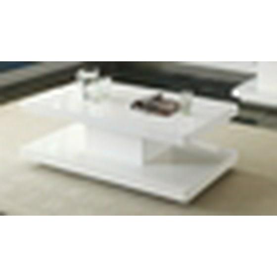82c889117e1b Ifama Contemporary Coffee Table in White High Gloss Lacquer Finish -  Walmart.com