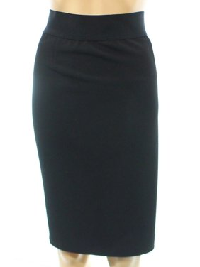 Alfani Women's Classic Pencil Skirt (Deep Black, 16)