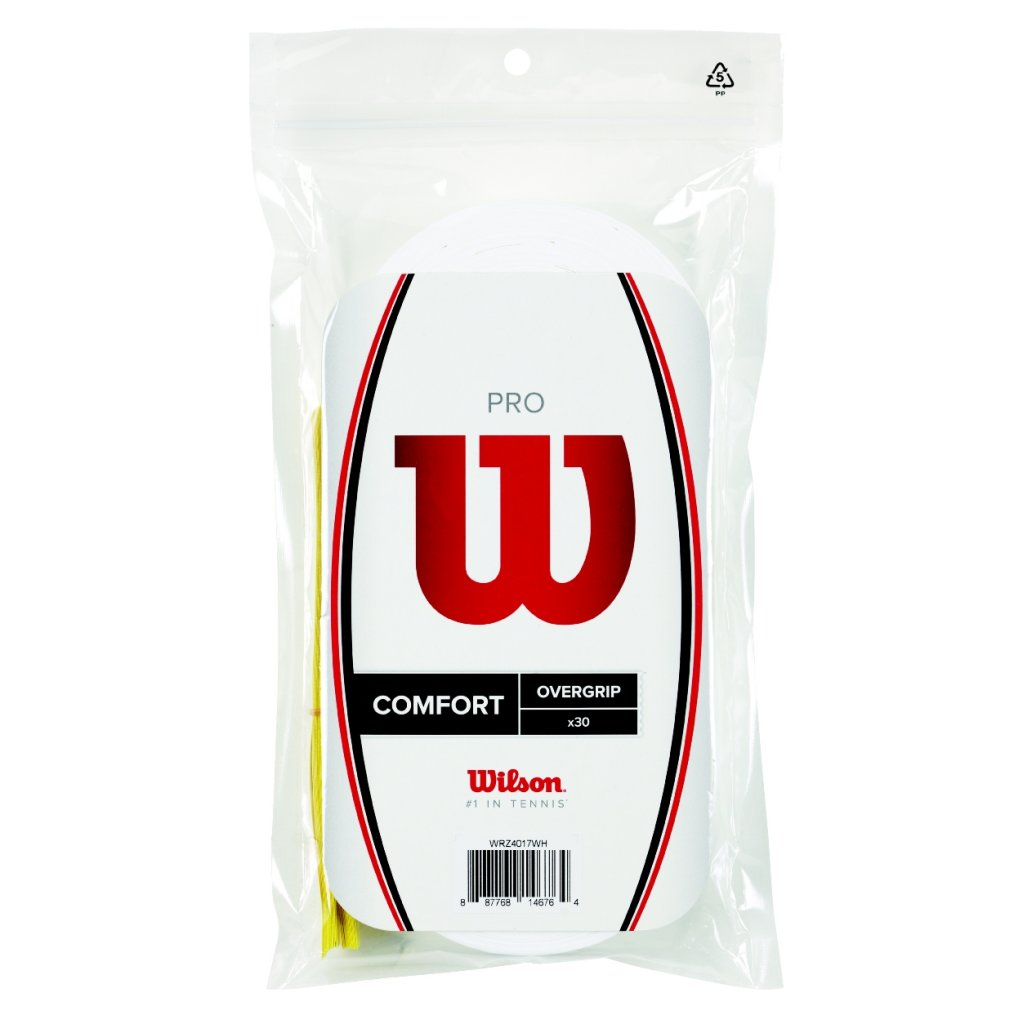 Wilson Pro Overgrip Comfort 30 pack Tennis, Racquetball, Squash, Badminton by