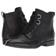 Isola Womens Tocina Leather Almond Toe Ankle Fashion Boots, Black, Size 7.5