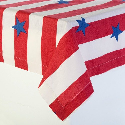 Dreamy Linens Stars and Stripes Tablecloth
