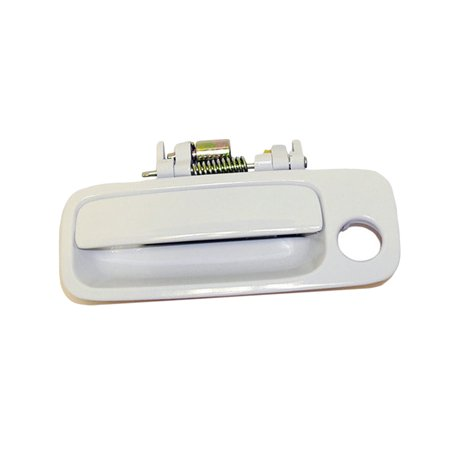 4AMCA Front Left Driver Side Exterior Outside Door Handle For 97-01 Toyota Camry 040 Super White II 1997 1998 1999 2000 2001 ()