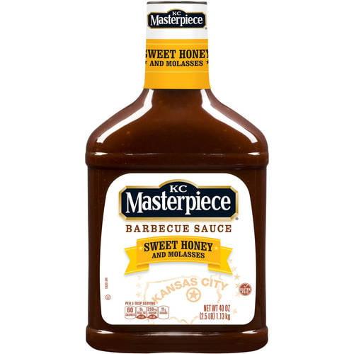 KC Masterpiece Barbecue Sauce, Honey, 40 Ounces