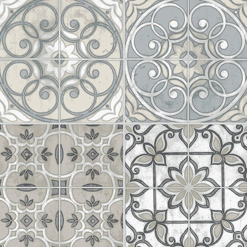 Norwall Wallcoverings Inc Kitchen Elements 32.7' x 20.5'' Portugese Tiles Wallpaper