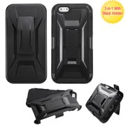 For iPhone 6s/6 Black Advanced Armor Stand Protector Cover (With Black Holster)