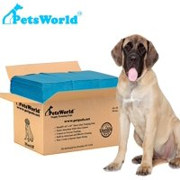 PETSWORLD Mastiff's Massive Training Giant Pads, 28x44 inch Pad, 100 Pads, XXXL Gigantic, Tear Resistant, Super Absorbent Polymer, Extremely Strong Leak-Proof