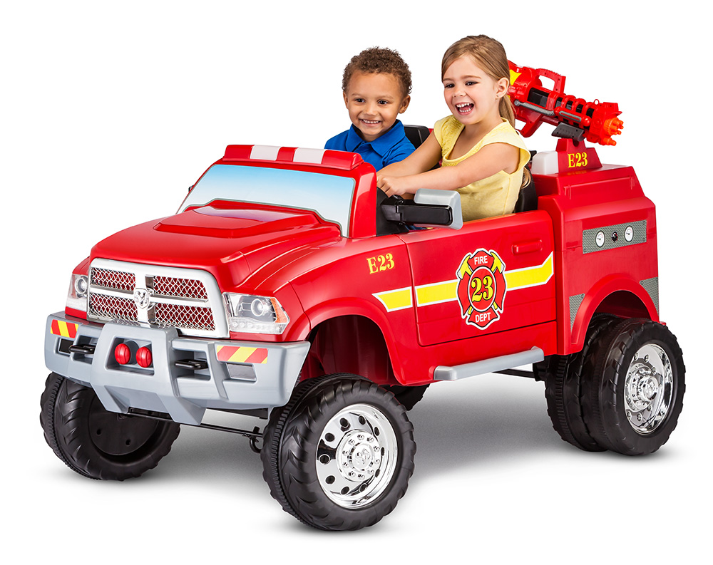 12-Volt RAM 3500 Fire Truck Ride-On Toy Car by Kid Trax, Red by Pacific Cycle