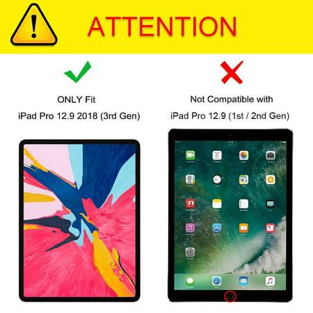 Fintie Coque iPad 3ème Gen 2018 de 12,9 pouces pour iPad avec porte-crayon sécurisé, Or Rose - image 3 de 6