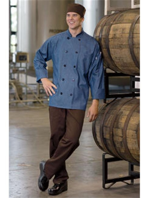 0405C-1704 Aspen Chef Coat in Chambray - Large