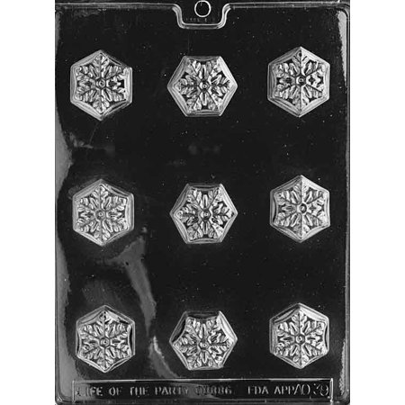 Snowflake Candy (Snowflake Bite Size Chocolate Mold Candy Soap Mould Winter Christmas)