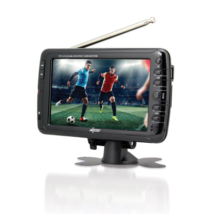 Axess 7-Inch LCD TV with ATSC Tuner Rechargeable Battery ...
