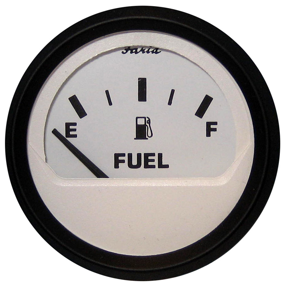 Model GP9357C FARIA Marine Gas Fuel Gauge w// Mounting Bracket