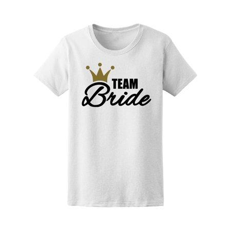 Team Bride With Golden Crown Tee Women's -Image by Shutterstock - Team Bride