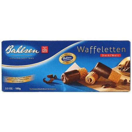 Bahlsen Wafers - (3 Pack) Bahlsen Waffeletten Cookie Rolls Dark Chocolate 3.5 oz