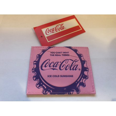 Authentic Coca-Cola Coke Pin Bottle Cap ID Case New with (Coke Olympic Pin)