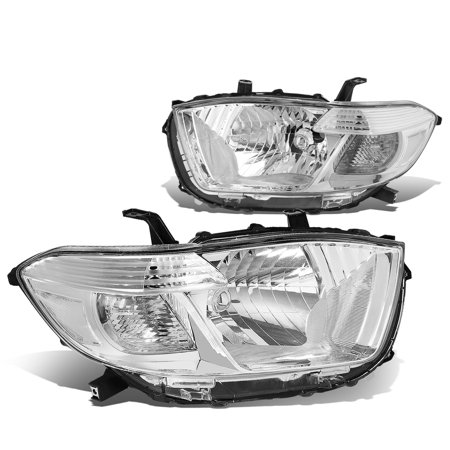 For 2008 to 2010 toyota Highlander XU40 Headlight Chrome Housing Clear Corner Headlamp 09