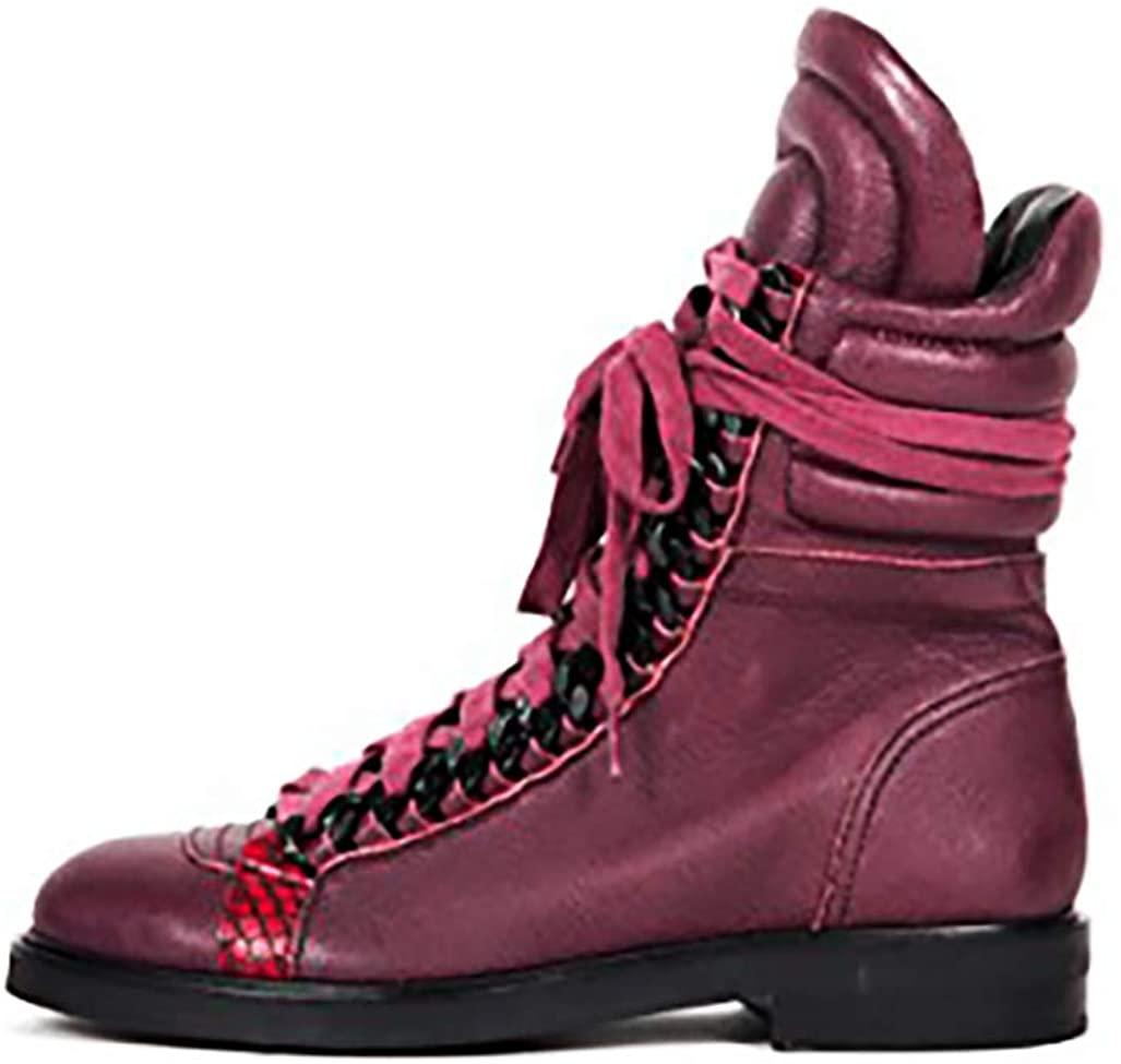 BORDEAUX Leather Combat Boot