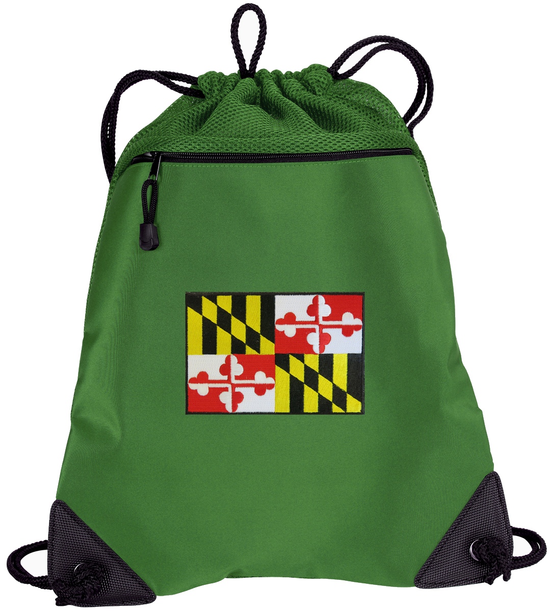 Maryland Flag Drawstring Bags Maryland Cinch Backpacks - Unique Mesh & Microfiber