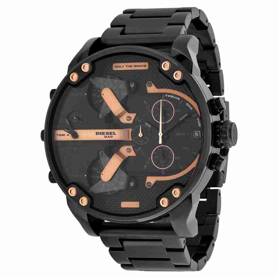 Diesel The Daddies Chronograph Four Time Zone Dial Mens Watch DZ7312