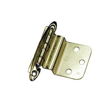 Inset Cabinet Doors - A03417 3 Amerock Decorative 0.38 in. Inset Free Swinging Cabinet Door Hinge, Polished Brass