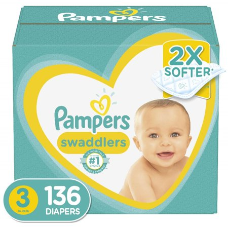 Pampers Swaddlers Diapers Size 3 136 Count ()
