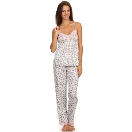 46c5d6484 Simlu - Womens 2 Piece Sleepwear Tank Top, Cami, Short Sleeve Pajama Set  Shorts & Long Pants - Walmart.com