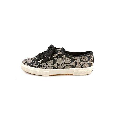 Coach Lady Shoes (Coach Womens Kalyn Jacquard Signature Fashion Sneakers, Black, Size 11.0)