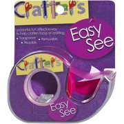"""Crafter's Easy See Removable Craft Tape .5""""X720""""-Pink"""
