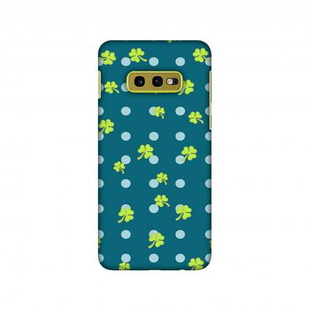 Samsung Galaxy S10e Case, AMZER Ultra Slim Hard Shell Designer Printed Case for Samsung Galaxy S10e - Shamrocks - Lime green (Shamrock Phone Case)