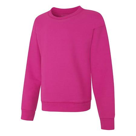 bc32c03a836 Hanes - Hanes ComfortSoft™ EcoSmart Girls  Crewneck Sweatshirt - OK268 -  Walmart.com