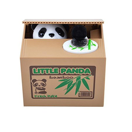 Tekdeals Automated Itazura Stealing Panda Coins Piggy Bank Money Saving Box Case Gift