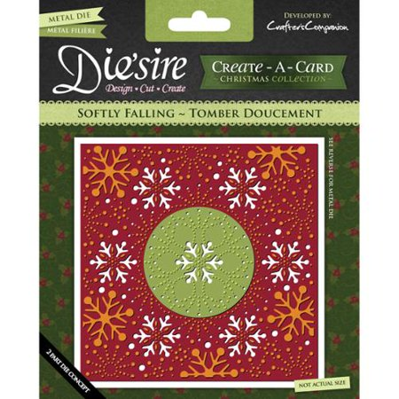 Crafter's Companion Die'sire Create-A-Card Cutting & Embossing Die-Softly Falling